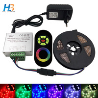 HBL SMD5050 RGB led strip light 4M 5M LED tape light not waterproof 8M 10M RF remote controller led strip light rgb full set