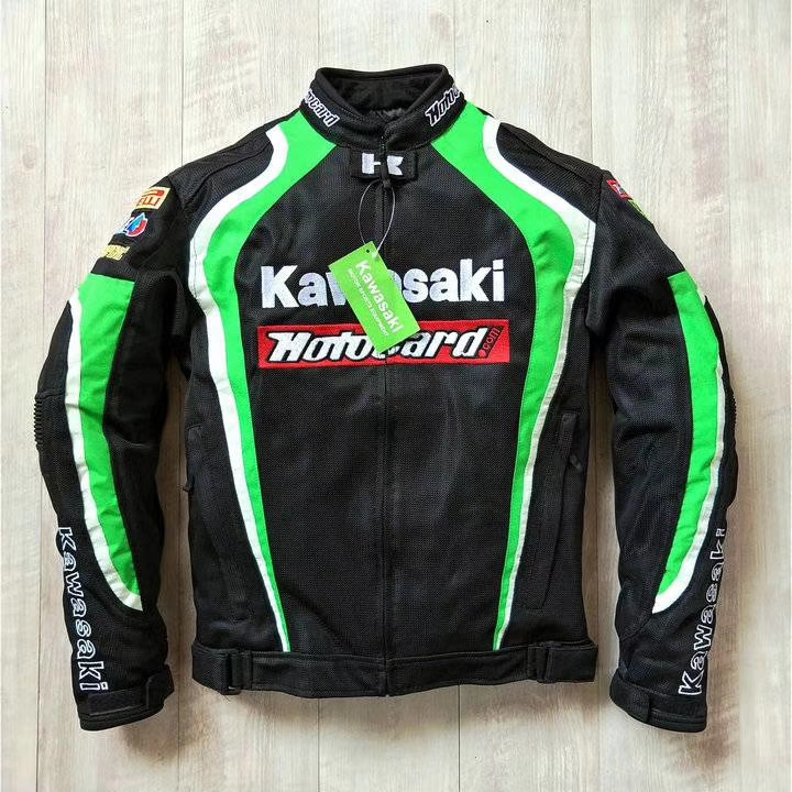 Motorsports Jackets For Kawasaki Moto Dirt Bike Off- road Motocross Jacket With Protector(China)
