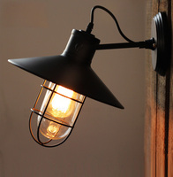 Edison Wall Light American Pastoral Style Vintage Wall Lamp Contains Edison Bulbs Free Shipping
