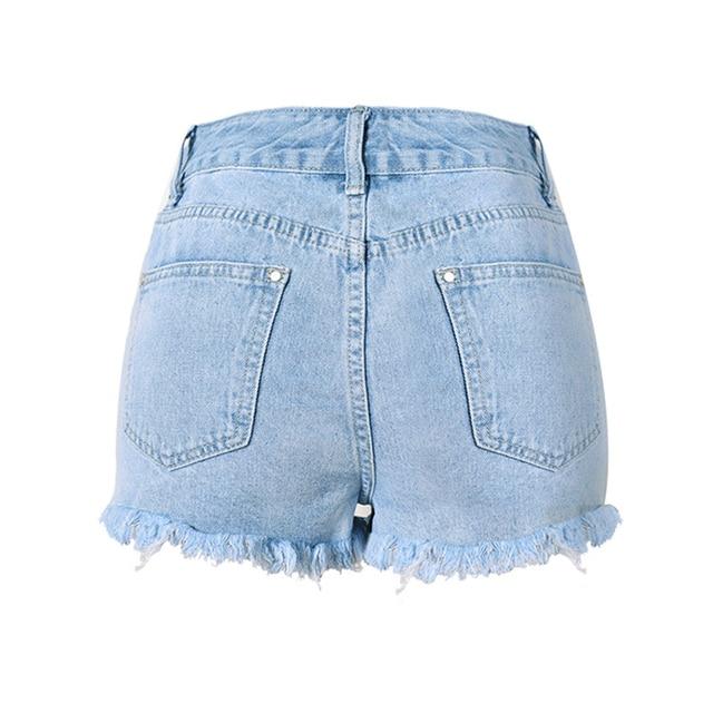 Flower Embroidery Denim Shorts