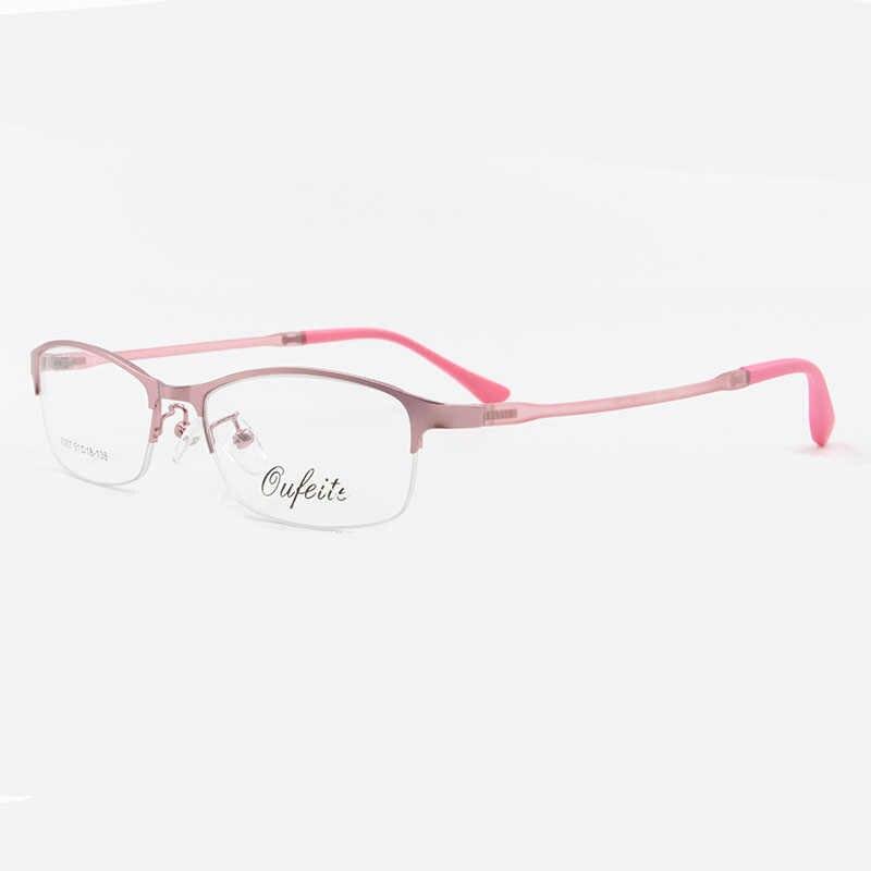 Женская оправа для очков BCLEAR, прозрачная оправа для очков из сплава с полуободком, 4 цвета, 2018