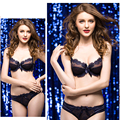 Size A B C D 32 34 36 38 40 42 Free shipping new arrival women's bra and brief set flower lace bralette 3/4 cup panties Lingerie