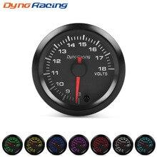 Dynoracing 2 52mm 7 Colors LED Car Auto Voltmeter 8-18 Volt Gauge High Speed Stepper Motor Voltage gauge Meter BX101492
