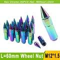 Colorido porcas da roda de carro 12x1.5 l = 60mm jdm corrida blox roda lug nuts bolts caps para ford/bmw/honda yc100447