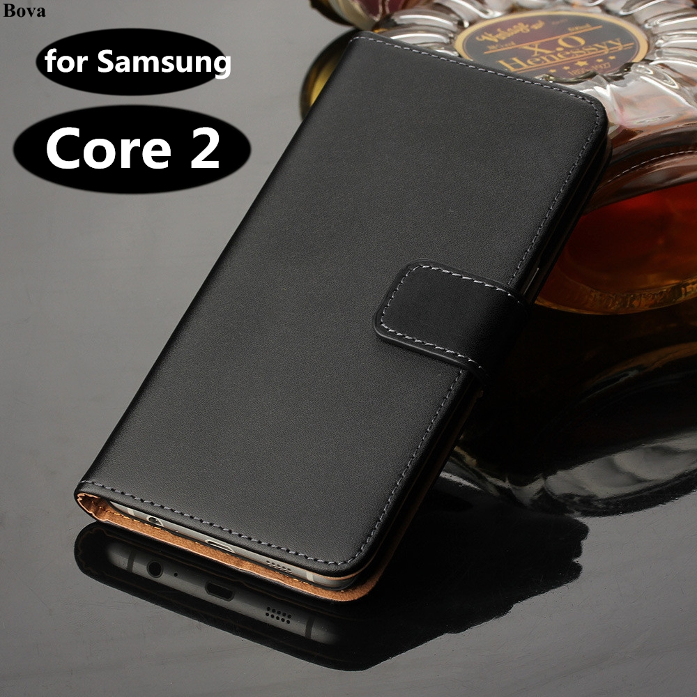Premium Leather Flip Cover Wallet <font><b>case</b></font> For <font><b>Samsung</b></font> Galaxy core 2 Duos core2 <font><b>g355h</b></font> <font><b>SM</b></font> g355 <font><b>sm</b></font>-<font><b>g355h</b></font> G355 h card holder holster GG image
