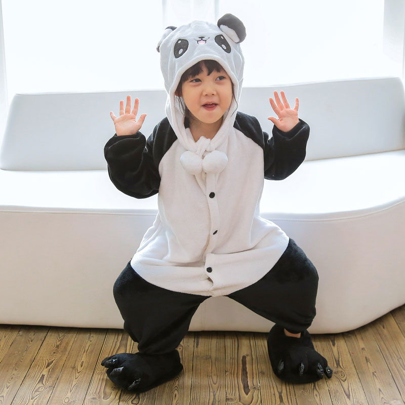 Animal Cartoon Pajama Onesie Baby Pajamas Funny Animal Kids Girls Boys Panda Monkey Children Kitty Sleepwear Onesie Nightwear