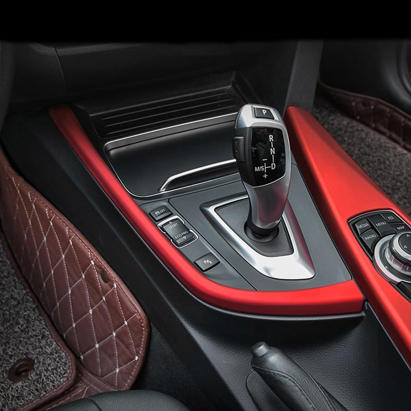 Car Styling Interior Gear Shift Box Panel Cover Trim Stall Decoration Strip Sticker For BMW 3 4 Series 3GT F30 F31 F32 F34 F36