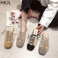 HKJL New 2019 summer fashion women slippers Transparent cross-tied non-slip soles Notice we dont have gay A024