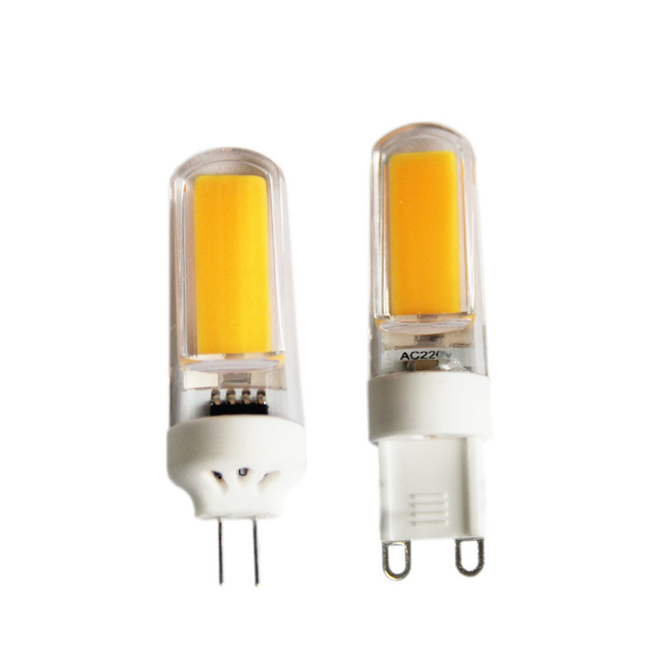 Shenmeile 1pcs G4 G9 LED Filament Lamp light 2w 3w 6w 9w led cob bulb 12v DC 110V 220V AC CE RoHs