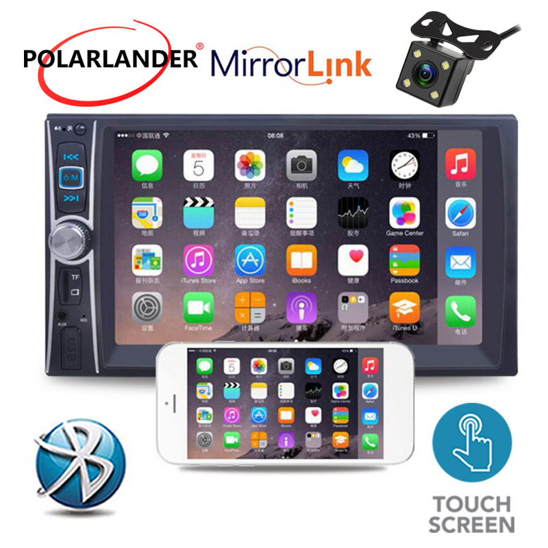 Image 2 - MP5 Player Bluetooth overseas warehouse  fast shipping  USB/AUX/SD 2 Din Mirror Link Touch Screen Car Radio 6 inchs-in Car Radios from Automobiles & Motorcycles