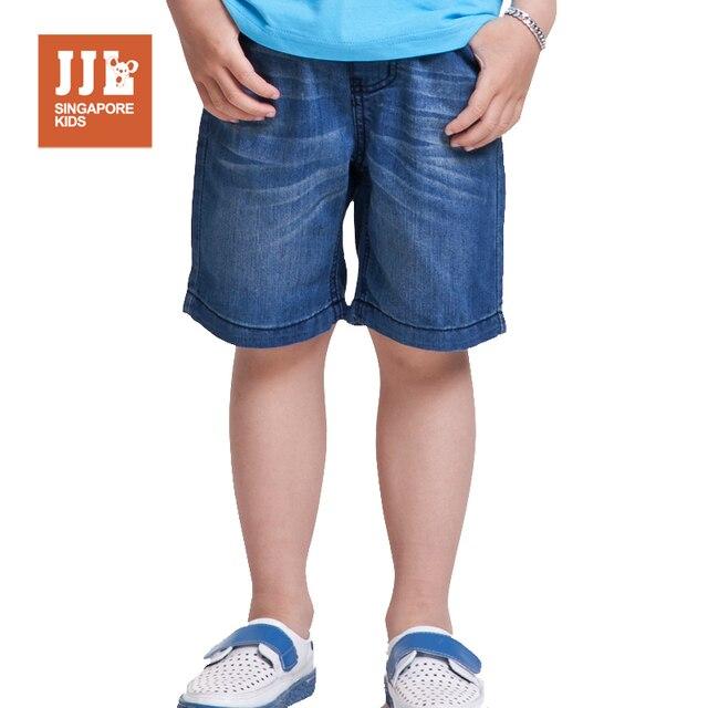 Мальчики шорты демин джинсы дети классический эластичный пояс дети причинные шорты сумская стили мальчиков размер одежды 4-15 лет бесплатная доставка