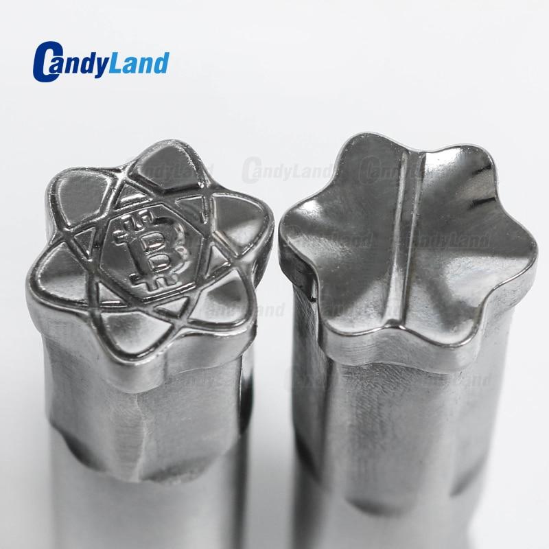 CandyLand BT Coin Milk Tablet Die 3D Punch Press Mold Candy Tablet Stamper Custom Logo Calcium