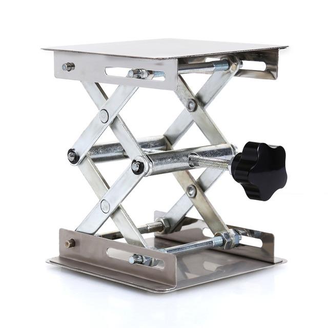 100*100mm de Aço Inoxidável Suporte de Plataforma de Elevação Mesa do Laboratório de Aço Inoxidável Ferramenta de Laboratório De Prótese