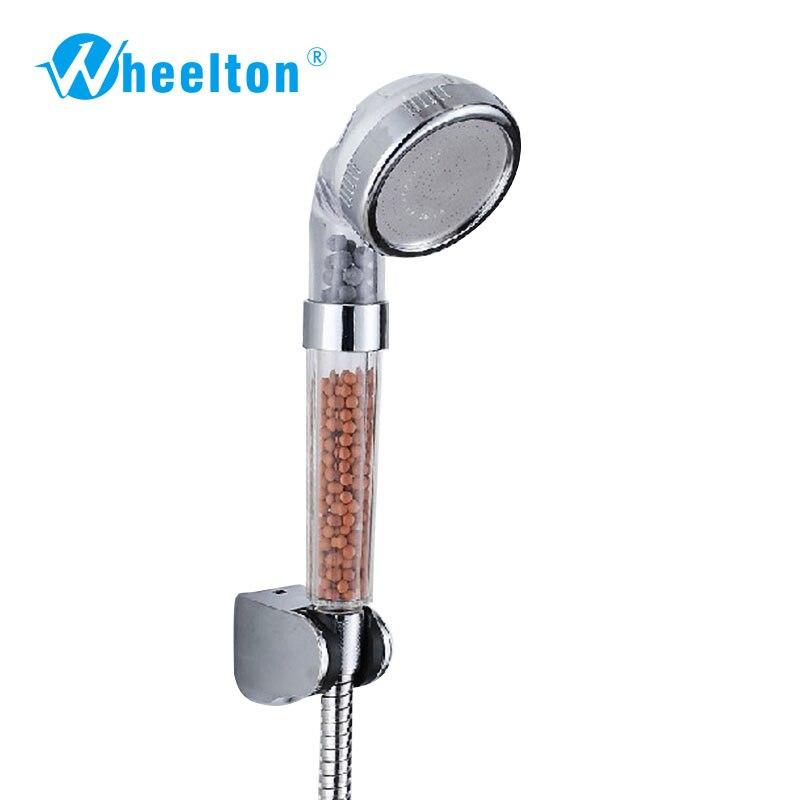 Marke Dusche Filter Kopf Haushalt Bad Dusche Wasserfilter Ionisator Anion SPA Kopf Dusche Griff Wasser-saving