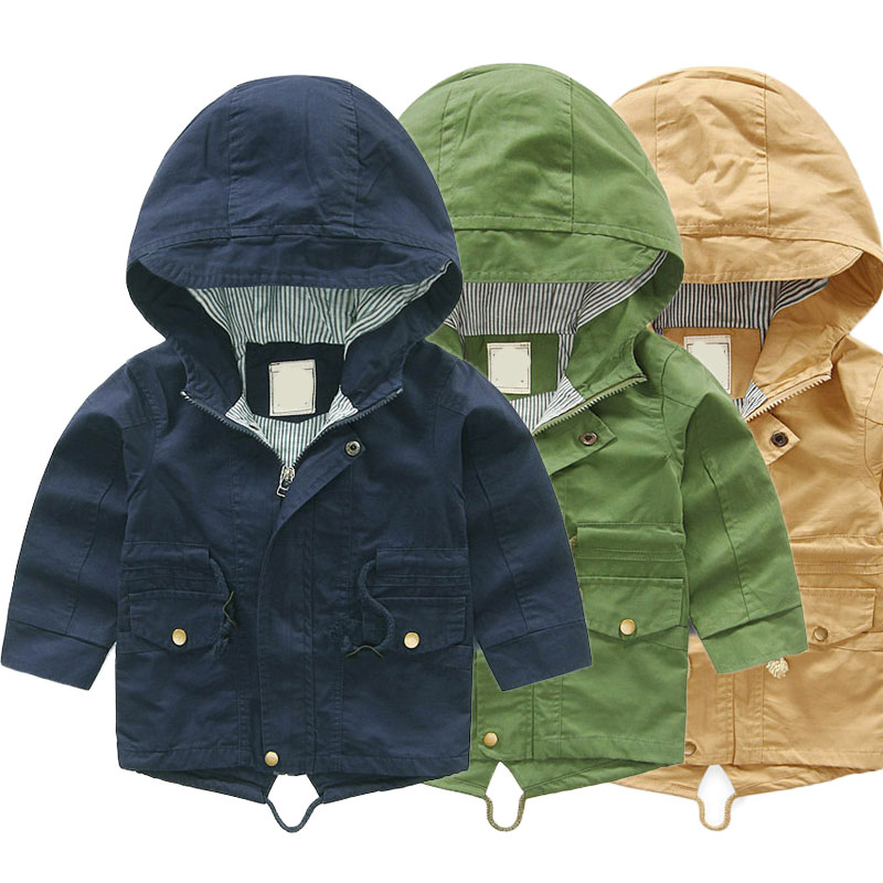 0b016e8331b3 V-TREE Boys Trench Coats Hooded Jackets For Babies Children Windbreakers  Toddlers Outerwears Kids Overcoats Baby Poncho ~ Free Delivery July 2019