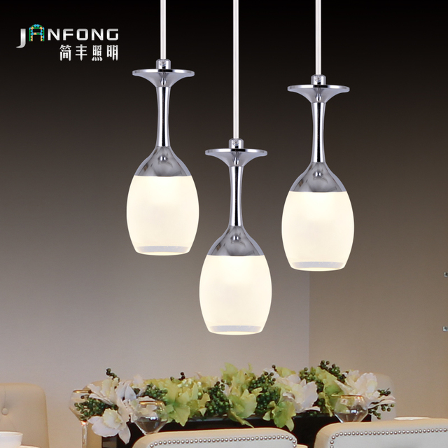 Led pendant light living room lights restaurant lamp brief modern led pendant light living room lights restaurant lamp brief modern wine glass american style bar counter mozeypictures Images