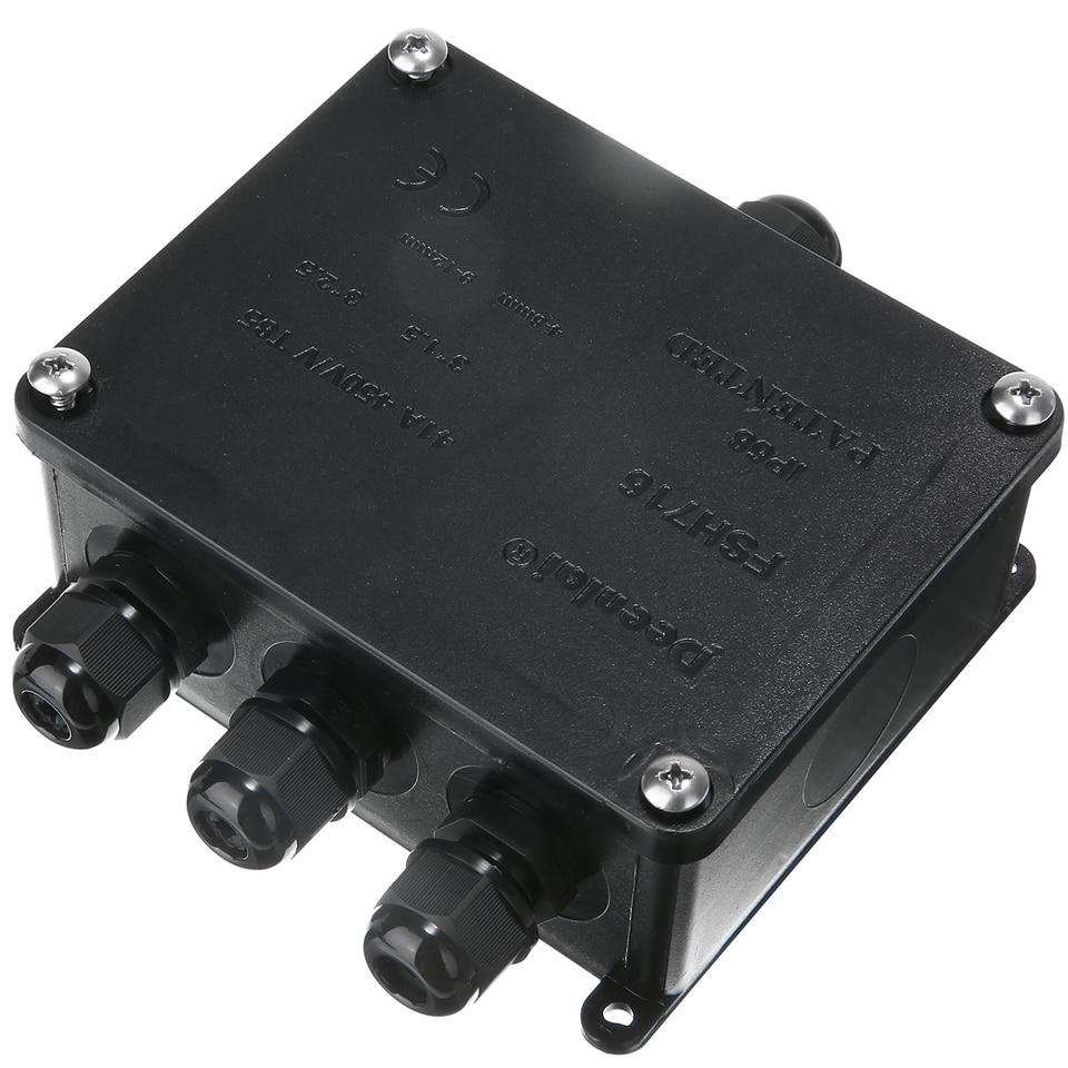1pc Led Lighting Outdoor Junction Box Aksesoris Kabel Bawah Tanah Lengan Perlindungan Connector 4 Way Terminal Konektor Aliexpress