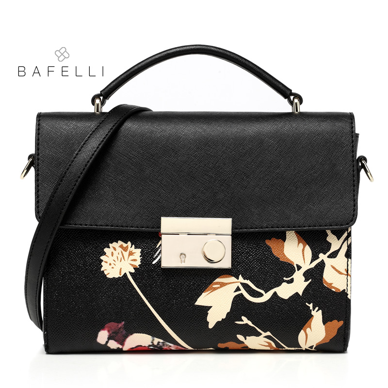 BAFELLI spring and summer split leather shoulder bag chinese style flower printing box bolsa feminina black women messenger bag 3d brick wall stone wallpaper modern vintage living room tv sofa background wall covering gray brick wall papers papel de parede