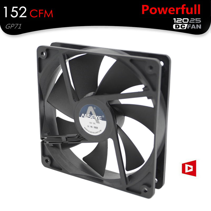 ALSEYE 120mm Fan Cooler 152 CFM DC 12V 4200RPM Powerful Mining Fan 3pin Ball Bearing High Strong Cooling Fan for Miner new f12738 127mm axial cooling fan large air flow two ball bearing 12v 10w fan cooler 3 pin fan connector cooling system