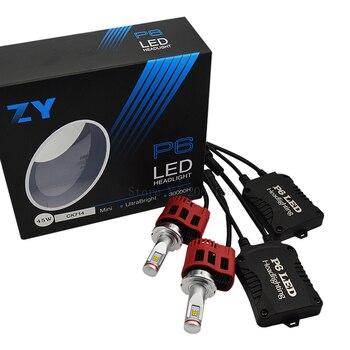 1 Pair P6 90W 9000LM D1C Or D1S (D1 D2 D3 D4 )Car LED Headlight Conversion Kit 3000K 4000K 5000K 6000K LED Headlamp Bulbs