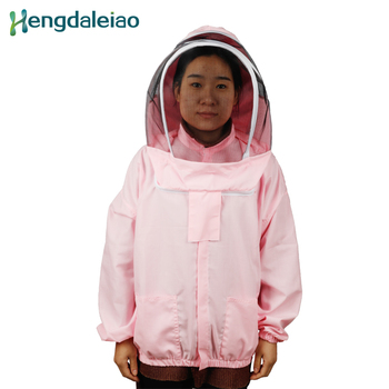 HDBC-008 Beekeeping Protective Clothing Pink Beekeeping Coat with Bracket