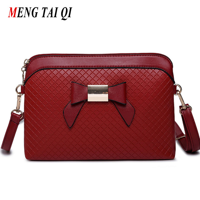 Women messenger bags crossbody bags for women shoulder bags leather bow shell bag famous brands designer fashion hot sale 4