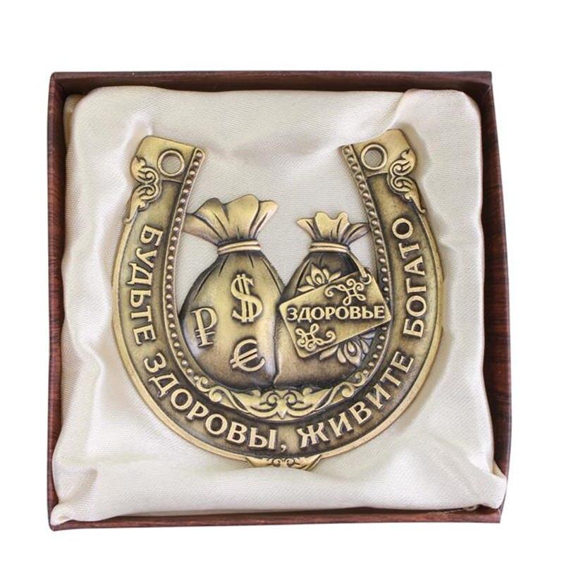 Herraduras coleccionables rusas de plata de la última moda, - Decoración del hogar