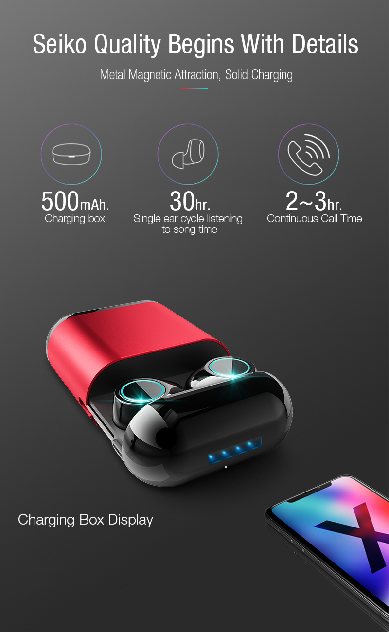 Artisome Wireless Bluetooth Earphone TWS Earbuds Bluetooth Headphones Stereo V5.0 Bluetooth Earphone With Mic and Charging Case (1)