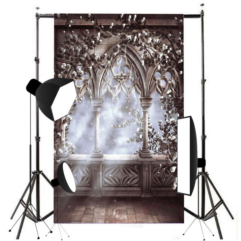 5X7FT European Beautiful Fairy Tale Photography Background Vinyl Window Floor Backdrop Studio Photo Prop photo background 5x7ft fairy tale mushroom house photography backdrop studio props for children