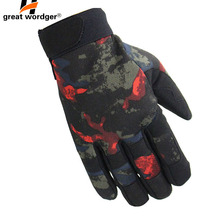 Lightweight Multicam Camouflage Tactical Gloves Army Military Airsoft Outdoor Climbing Shooting Paintball Full Finger Gloves цены