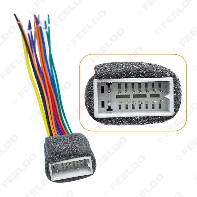 feeldo car 16pin wire harness plug cable female connector. Black Bedroom Furniture Sets. Home Design Ideas