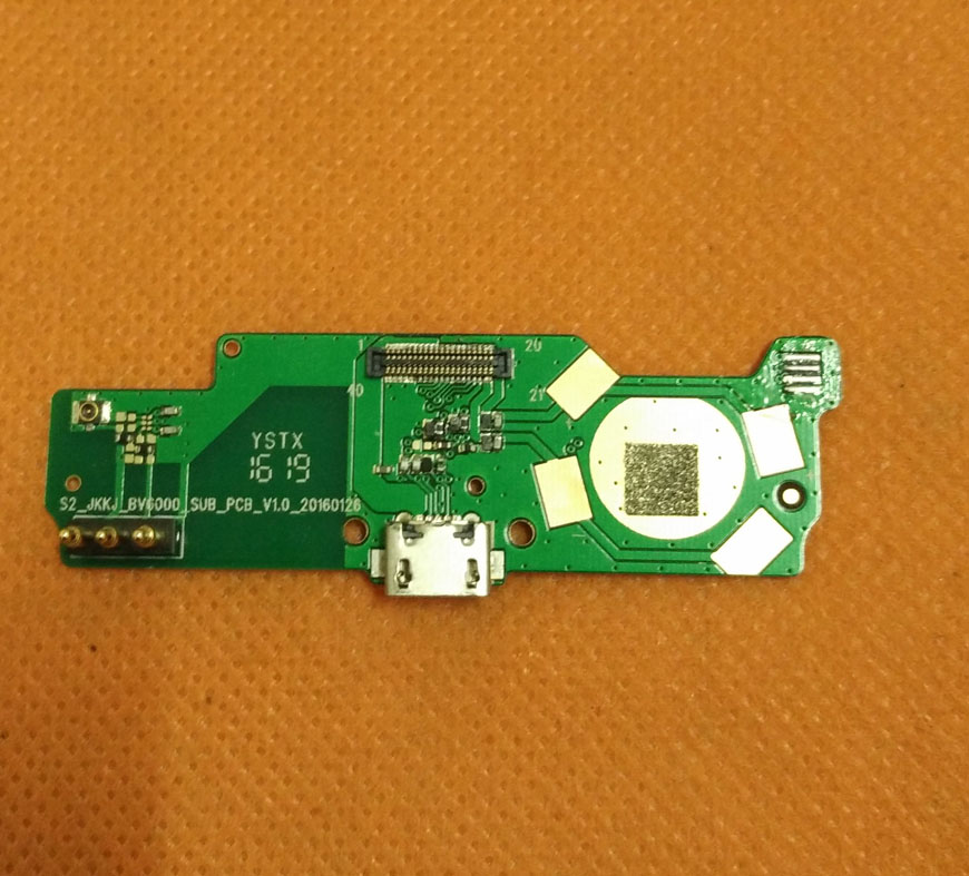 Used Original USB Plug Charge Board For Blackview BV6000 MT6755 Octa Core 4.7 HD Free shipping