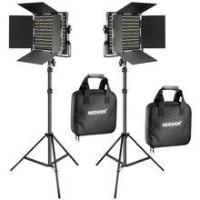 Neewer 2 шт Bi Цвет 660 светодиодный видео Свет Стенд Комплект для студийная съемка видео Лампа с регулировкой с U кронштейн и ворота амбара