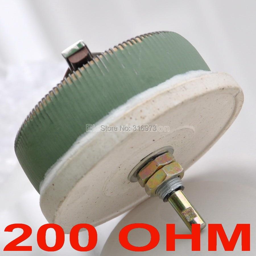 odpor 100 wattů 200 ohmů - 100W 200 OHM High Power Wirewound Potentiometer, Rheostat, Variable Resistor, 100 Watts.