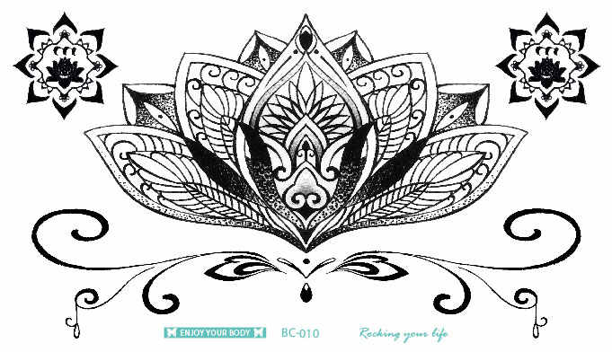 BC Series Mandala Tattoo Waterproof Body Fresh Temporary