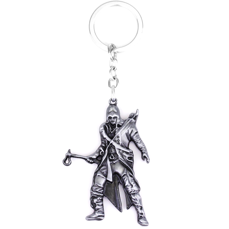 Game Assassins creed ACT Alloy Figure Car Key Chain Holder Best Friend Graduation Christmas Day Gift image