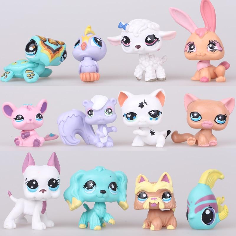 12pcs set little pet shop lps toys action figures cartoon. Black Bedroom Furniture Sets. Home Design Ideas