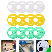 12Pcs Plastic Round Beehive Gates Beekeepers Entrance Bee Hive Box Nest Door Vents Tools Beekeeping Equipment Supplies