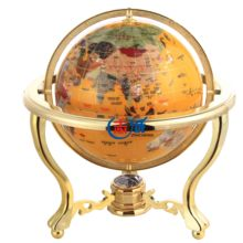 Senior desktop beautiful gold frame yellow Gemstone Globe crafts crystal film office decoration home