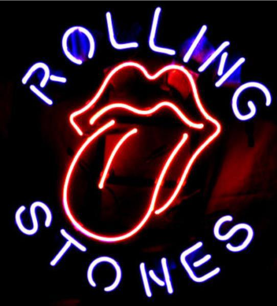 neon light signs yellow neon sign board for the famous rolling stones rock band glass tube beer bar pub club shop light signs 1612