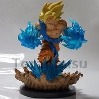 Dragon Ball Z Goku Super Saiyan PVC Action Figures 180mm Anime Dragon Ball Super Son Goku Power Effect DBZ Toy