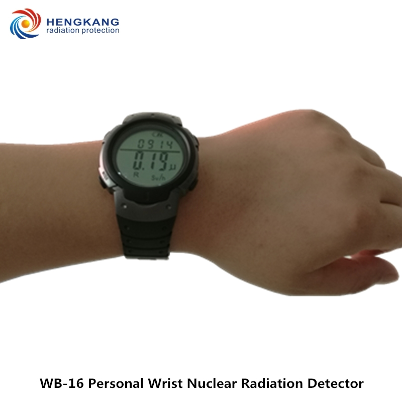 Free Shipping WB-16 Wrist Nuclear Radiation Dosimeter High Quality LCD Digital Display Geiger Counter Radiation Dosimeter