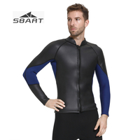 SBART Male Separated Long Sleeve 3MM Wet Suit Waterproof Smooth Skin Open Cell Surf Clothes Thermal Thick Scuba Diving Swimwear