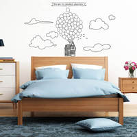 You Are My Greatest Adventure Wall Sticker Flying Balloon Up House Quote Decal Dream House Wall Decal Wall Decor 862N