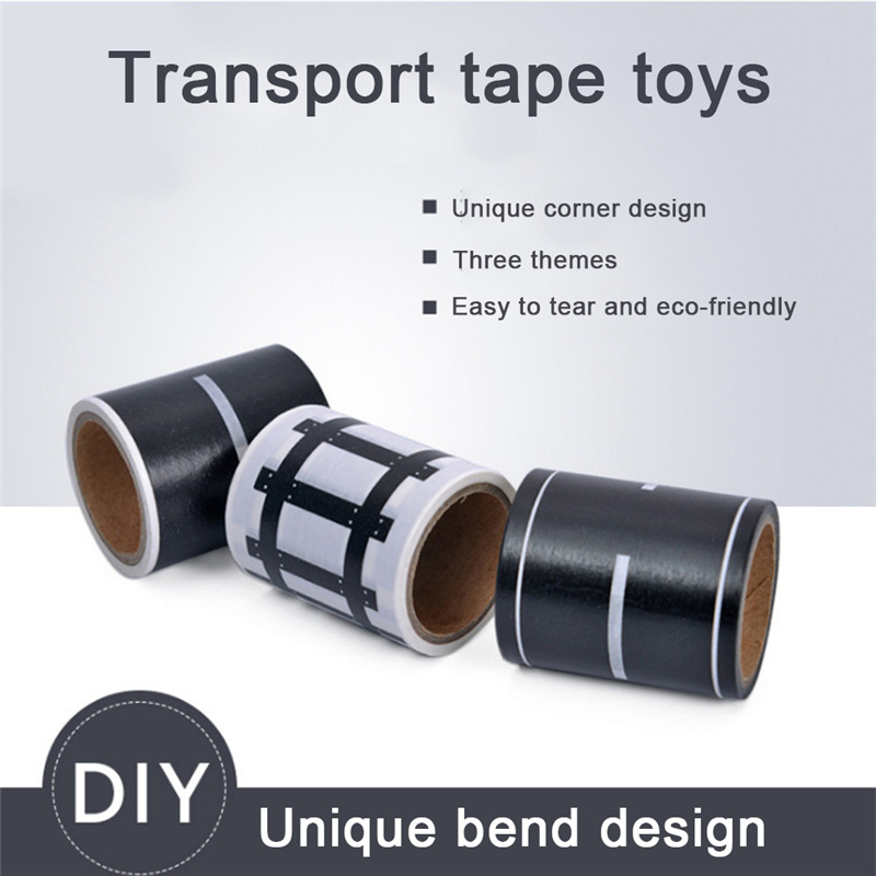 Puzzle Children Handmade Transport Tape Toy Railway/Highway/Speed Highway Model Kids Game Accessories Car Lane Child Gifts