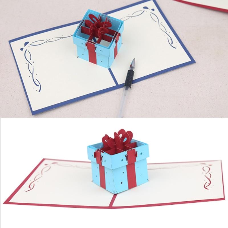 Gift Box Greeting Cards Handmade Birthday Wedding Invitation Letter Christmas Thanksgivi ...