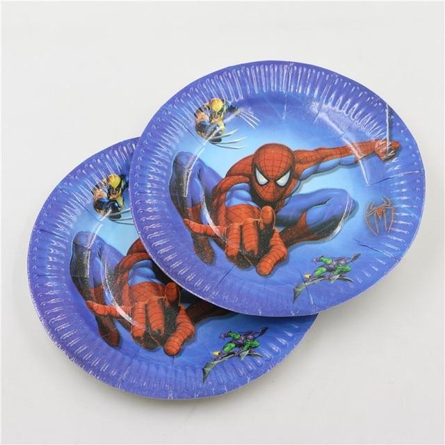 baby shower decoration party supplies favor disposable paper plates 7\u0027\u0027inches superhero happy birthday & baby shower decoration party supplies favor disposable paper plates ...