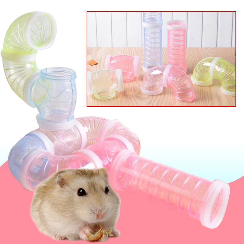 Hamster Cage Accessories Hamster Pipeline Multifunctional PP Hamster Toys Random DIY External Tunnel ...