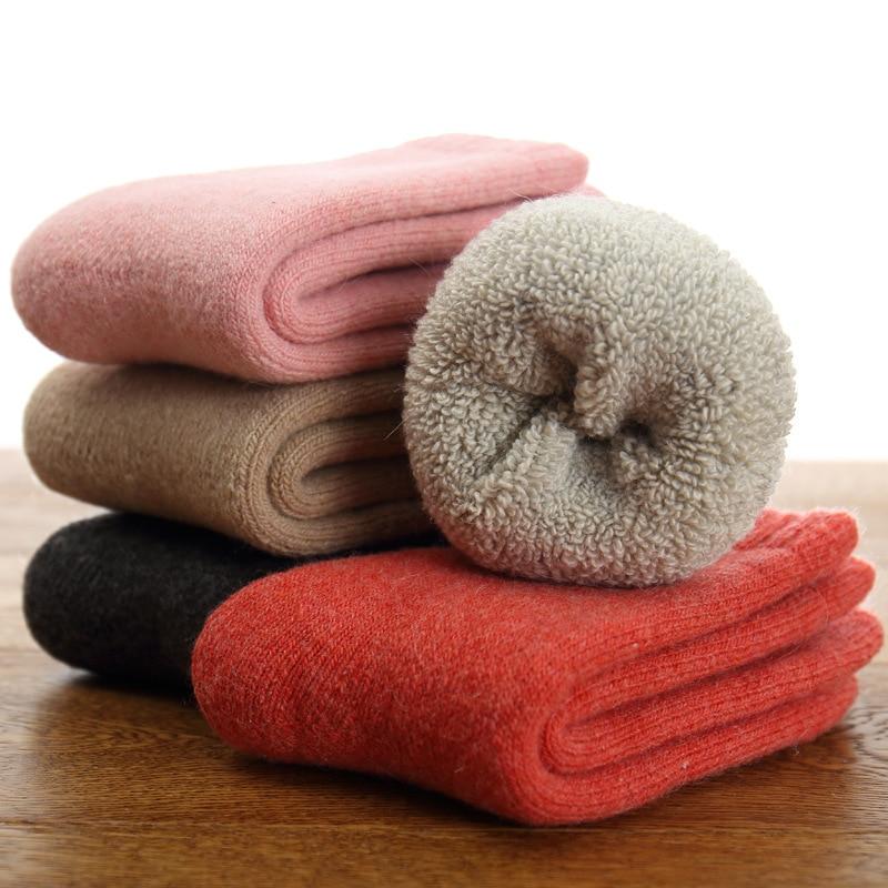Real Woolen Thick Baby Kids Socks Winter Soft Warm Socks For Children 0-7 Years Boys Girls Thermal Floor Baby Socks