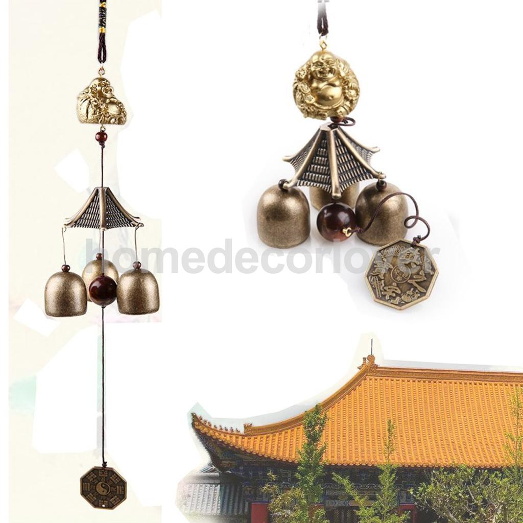 Vintage Metal Bell Lucky Hanging Charm Wind Chime Home Garden Ornament